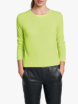 hush Clara Fine Jumper, Neon Yellow