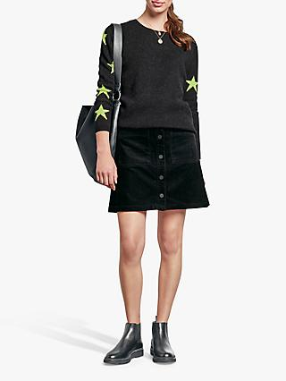 hush Ziggy Star Jumper, Dark Charcoal/Yellow