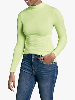hush Ribbed Mock Neck Top