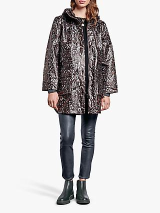 hush Printed Rain Mac, Natural Leopard