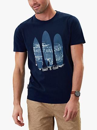 Joules Flynn Surf Board Graphic T-Shirt, Navy