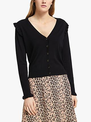 Somerset by Alice Temperley Frill Knit Cardigan, Black