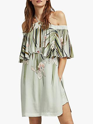 Ted Baker Piipper Cold Shoulder Playsuit, Light Green