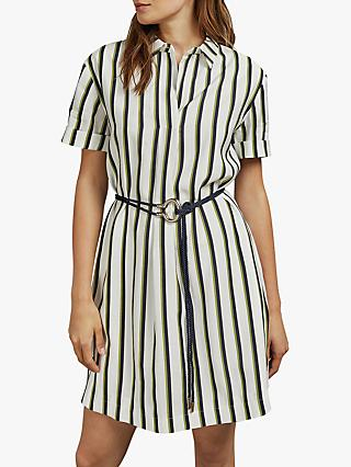 Ted Baker Olivee Striped Shirt Dress, White