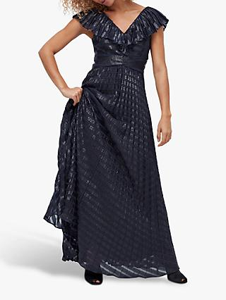 Coast Sparkle Stripe Burnout Maxi Dress, Navy