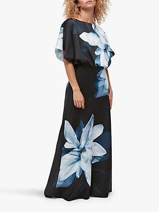 Coast Floral Placed Maxi Dress, Navy Multi