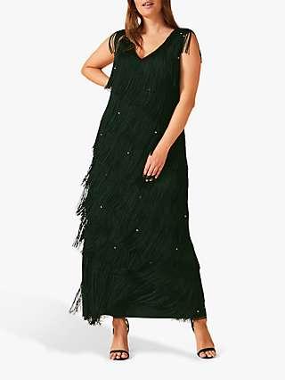 Studio 8 Siena Fringe Maxi Dress, Pine