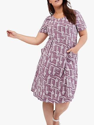 White Stuff Cobble Dress, Berry Purple