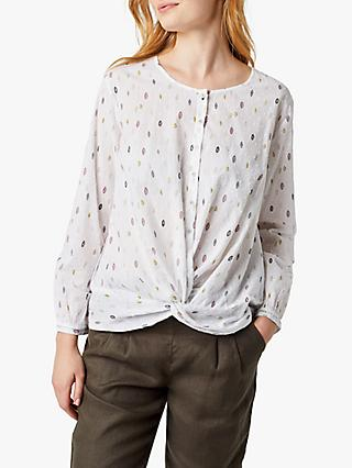 White Stuff Entwined Cotton Shirt, White