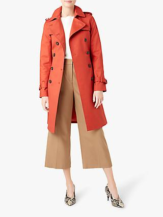 Hobbs London Saskia Trench Coat, Burnt Orange