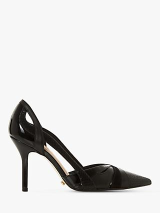 Dune Dakota Leather High Heel Court Shoes