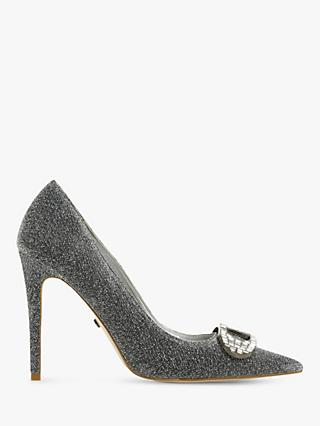 Dune Belvedere Stiletto Heel Court Shoes, Pewter