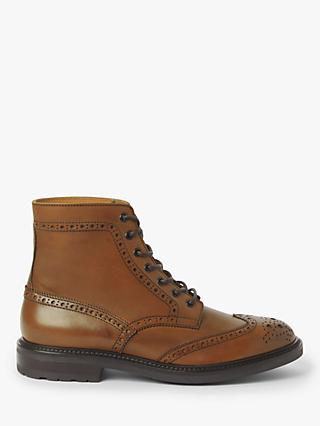 John Lewis & Partners Brooking Brogue Boots, Tan