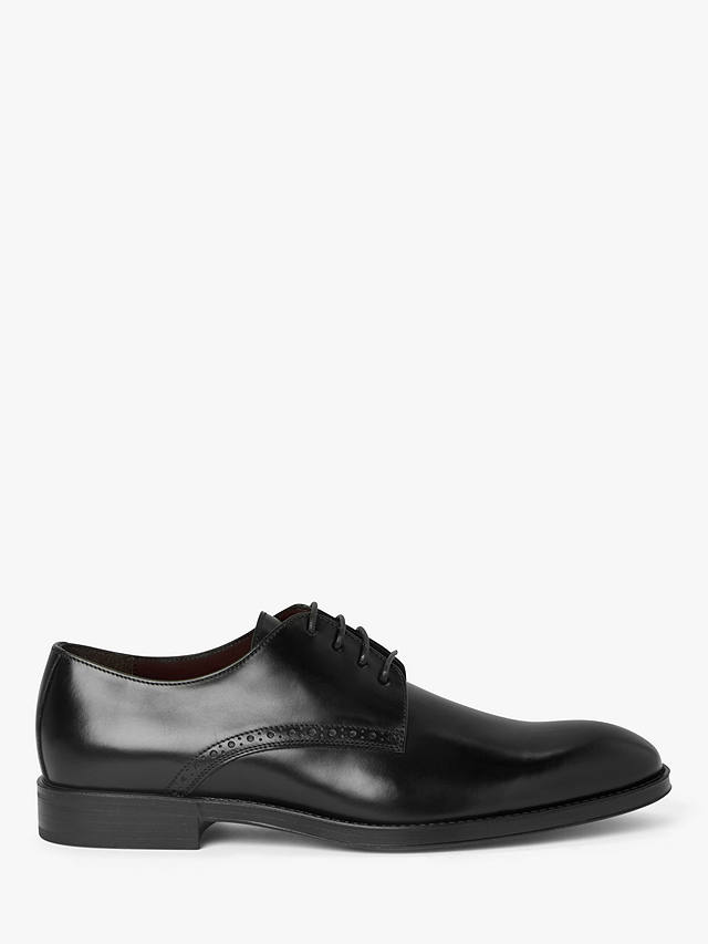 Buy John Lewis & Partners Zurich Italian Leather Derby Shoes, Black, 7 Online at johnlewis.com