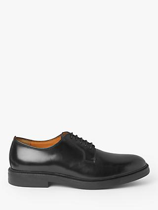 John Lewis & Partners Nevin Postman Leather Derby Shoes, Black