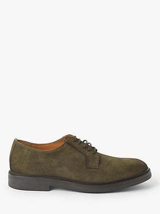 John Lewis & Partners Nevin Postman Suede Derby Shoes, Musk