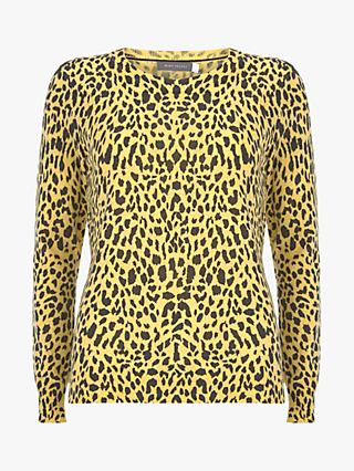 Mint Velvet Maisie Animal Print Jumper, Multi