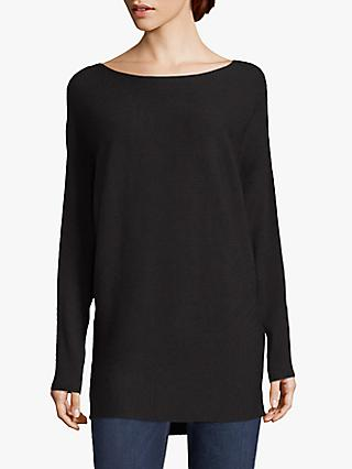 Betty & Co. Fine Ribbed Tunic Top, Black