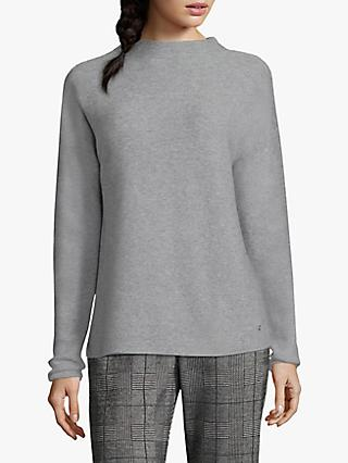 Betty & Co Fine Knit Top, Silver Melange