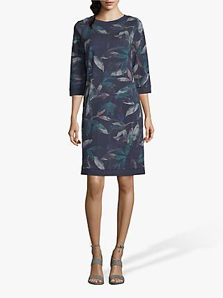 Betty & Co. Leaf Print Dress, Blue