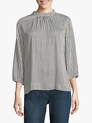 Betty & Co. Graphic Print Blouse, Cream/Black
