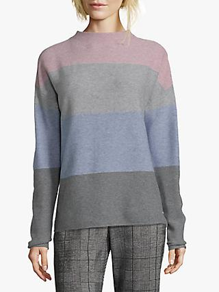 Betty & Co. Block Colour Jumper, Silver-Rosè