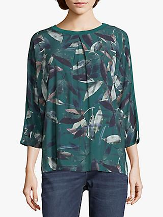 Betty & Co. Leaf Print Top, Green