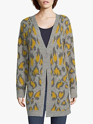 Betty & Co. Double Knit Cardigan, Silver/Yellow