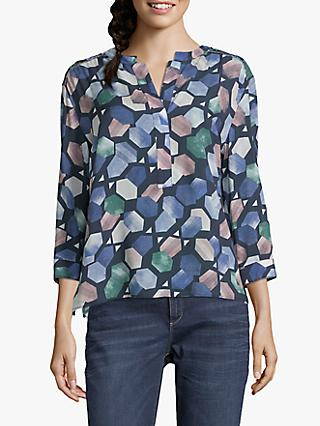 Betty & Co. Graphic Print Blouse, Light Blue