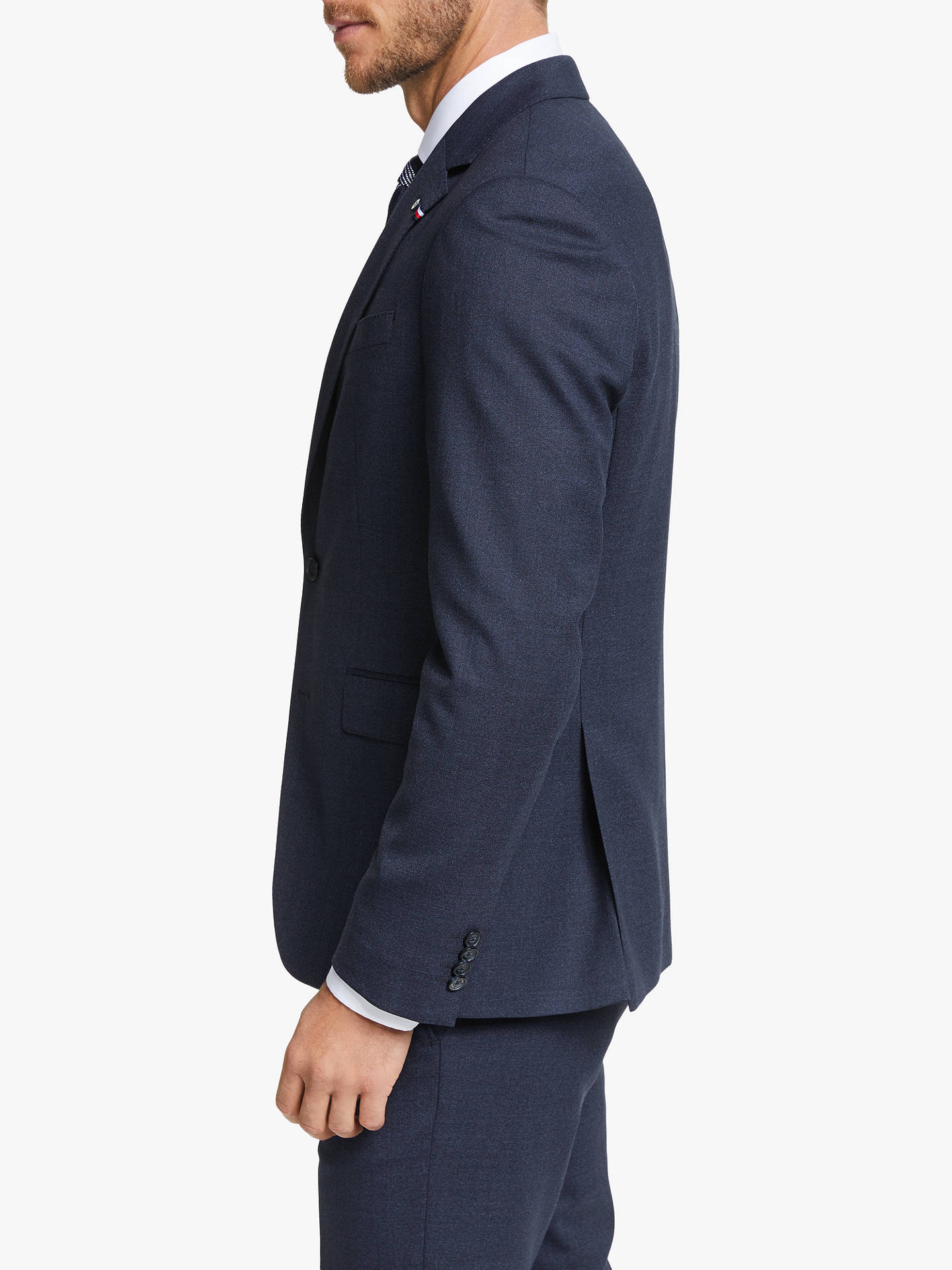 Tommy Hilfiger Stretch Wool Slim Fit Two Piece Suit Navy At John Lewis Partners