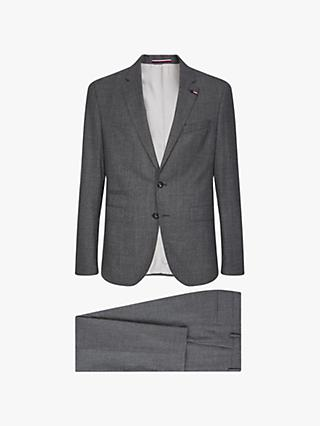 Tommy Hilfiger Stretch Wool Slim Fit Two Piece Suit, Ash Melange