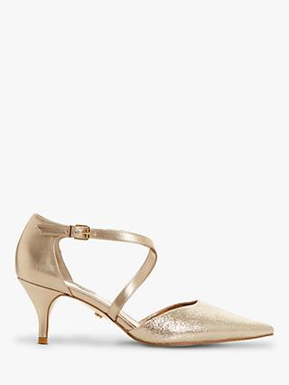 Dune Courtnies Cross Strap Court Shoes