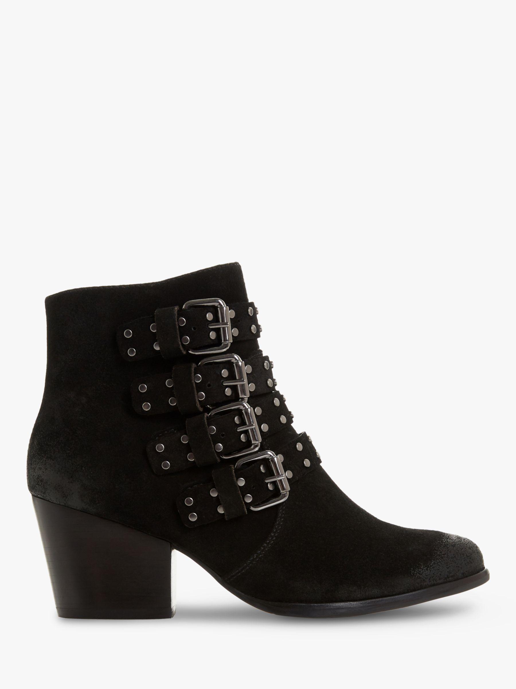 Bertie Bertie Paramont Block Heel Ankle Boots, Black
