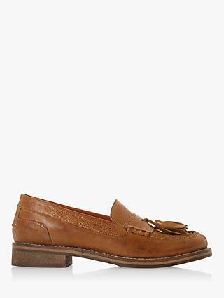Bertie Giorgeo Leather Tasselled Loafers, Tan