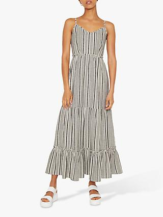 Warehouse Tiered Maxi Dress, Neutral