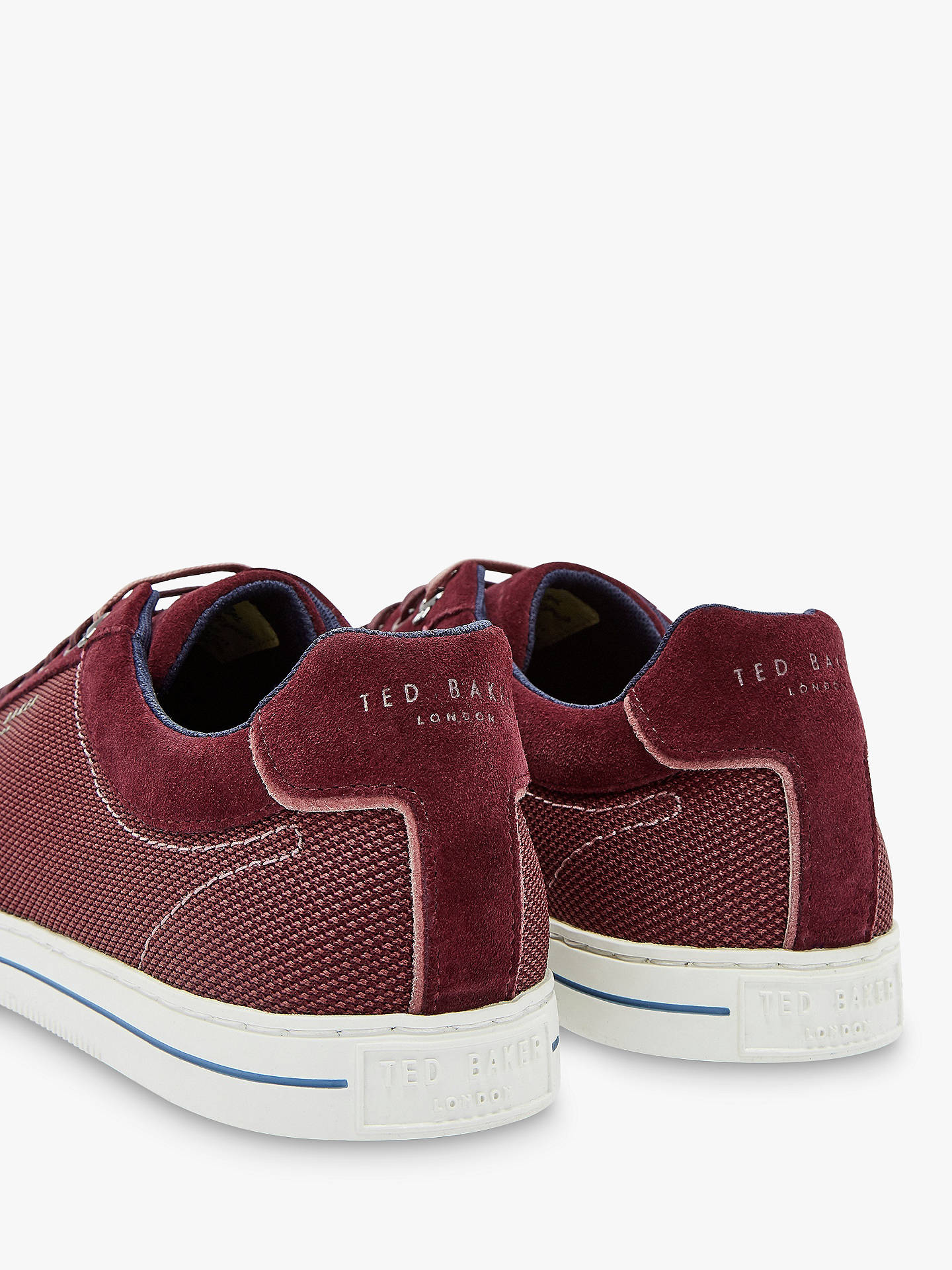 Buy Ted Baker Ashwyns Suede Trainers, Dark Red, 9 Online at johnlewis.com