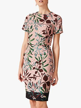 Phase Eight Joan Printed Dress, Pink/Multi