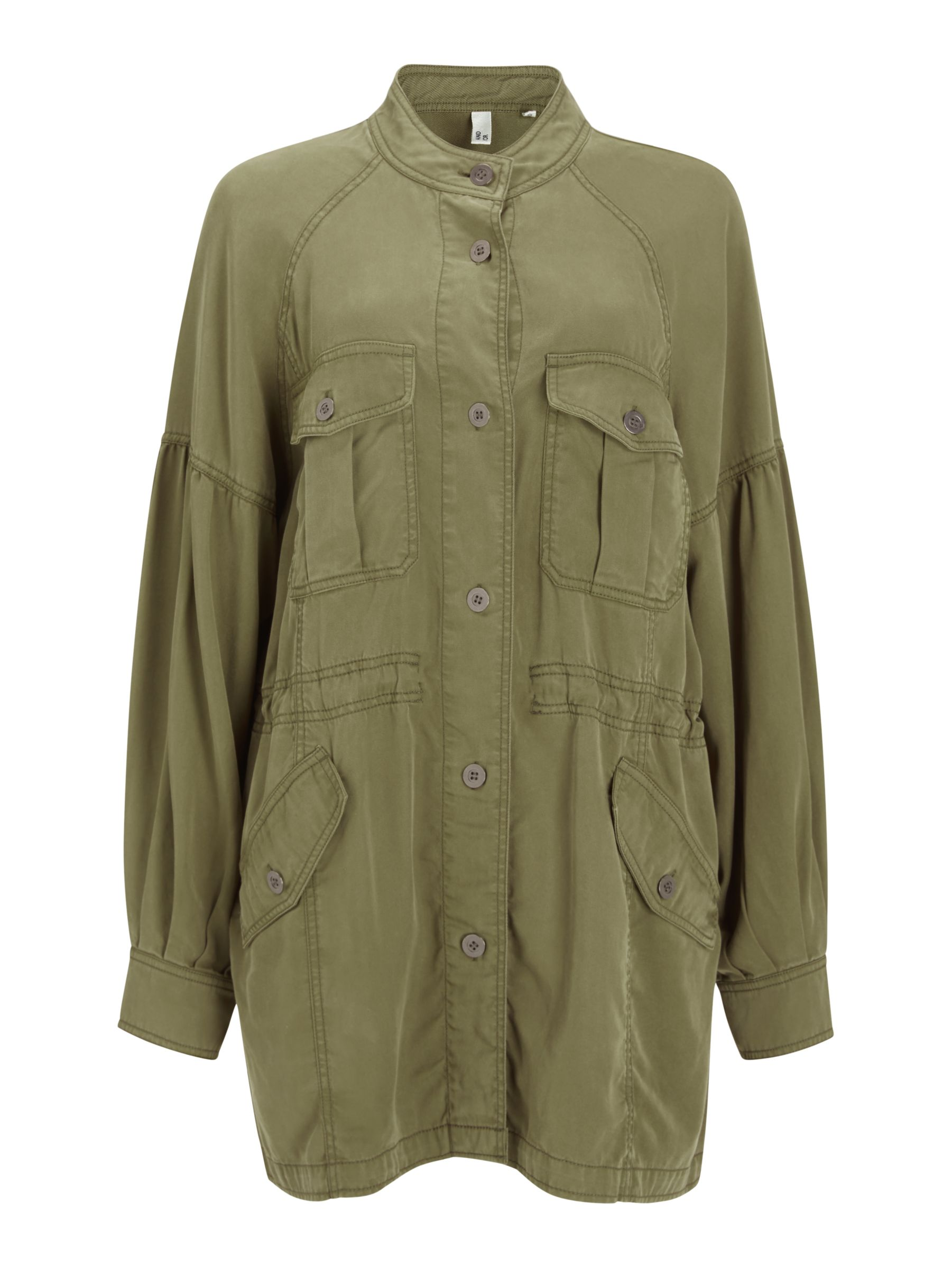 Buy AND/OR Belvis Utility Jacket, Khaki, 8 Online at johnlewis.com