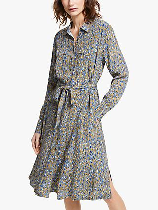 AND/OR Farah Abstract Print Shirt Dress, Ikat