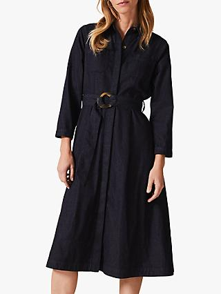 Phase Eight Micaela Denim Dress, Indigo
