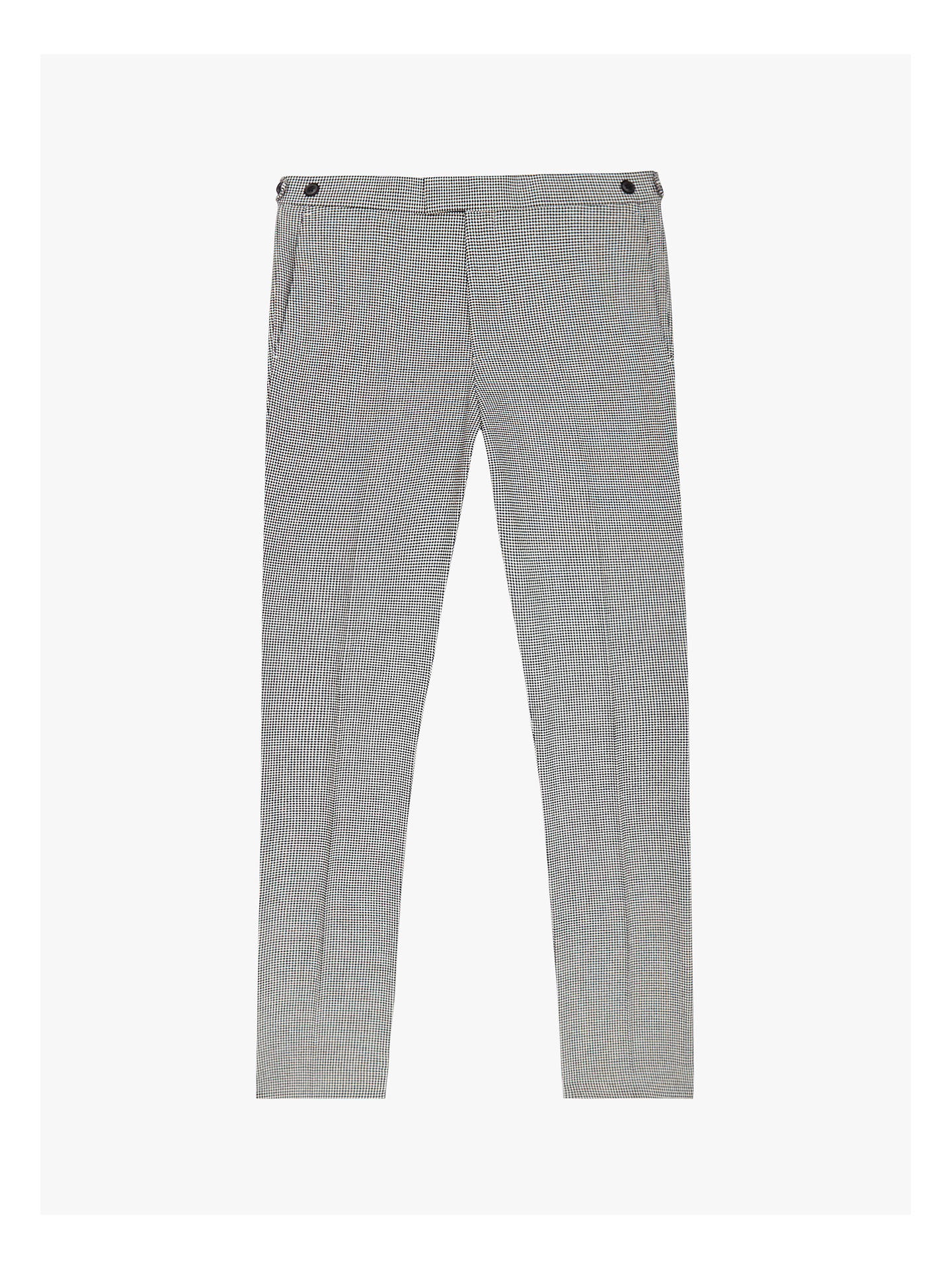 Buy Reiss Napoleon Dogtooth Suit Trousers, Black/White, 28R Online at johnlewis.com