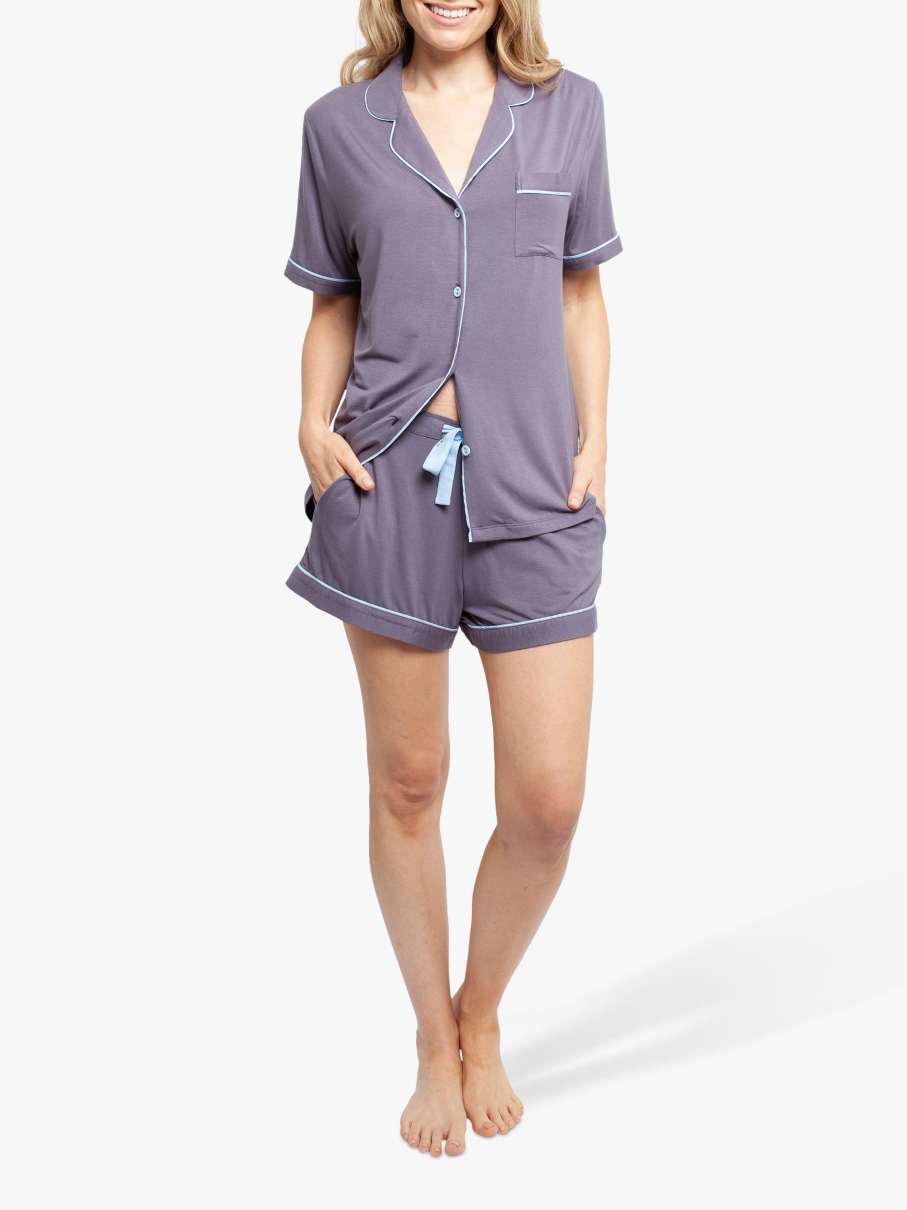 Cyberjammies Cyberjammies Olivia Shorts Pyjama Set, Grey