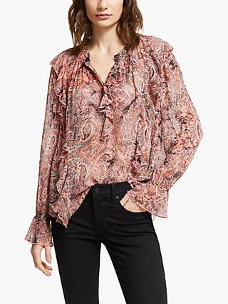 AND/OR Esme Paisley Print Blouse, Pink