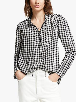 AND/OR Maudie Check Shirt, Black/White