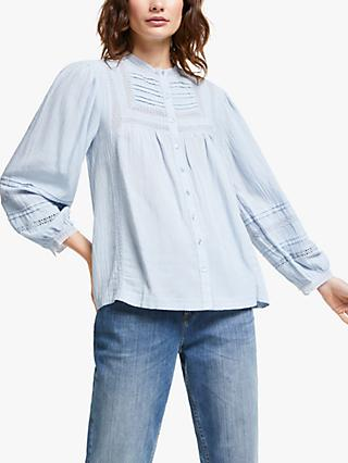 AND/OR Lucy Lace Blouse, Pale Blue