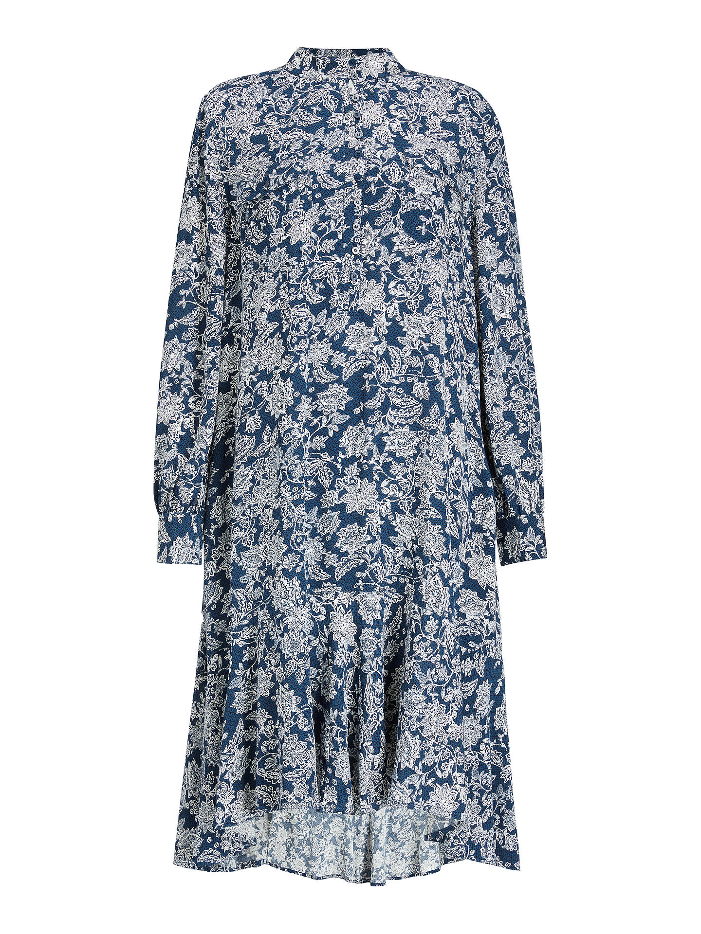 Buy AND/OR Colette Batik Midi Dress, Navy/White, 8 Online at johnlewis.com