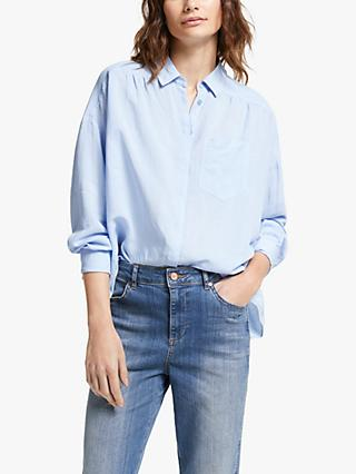 AND/OR Abby Plain Shirt, Pale Blue