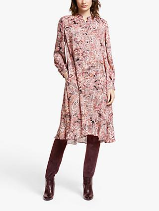 AND/OR Paisley Print Flare Dress, Pink