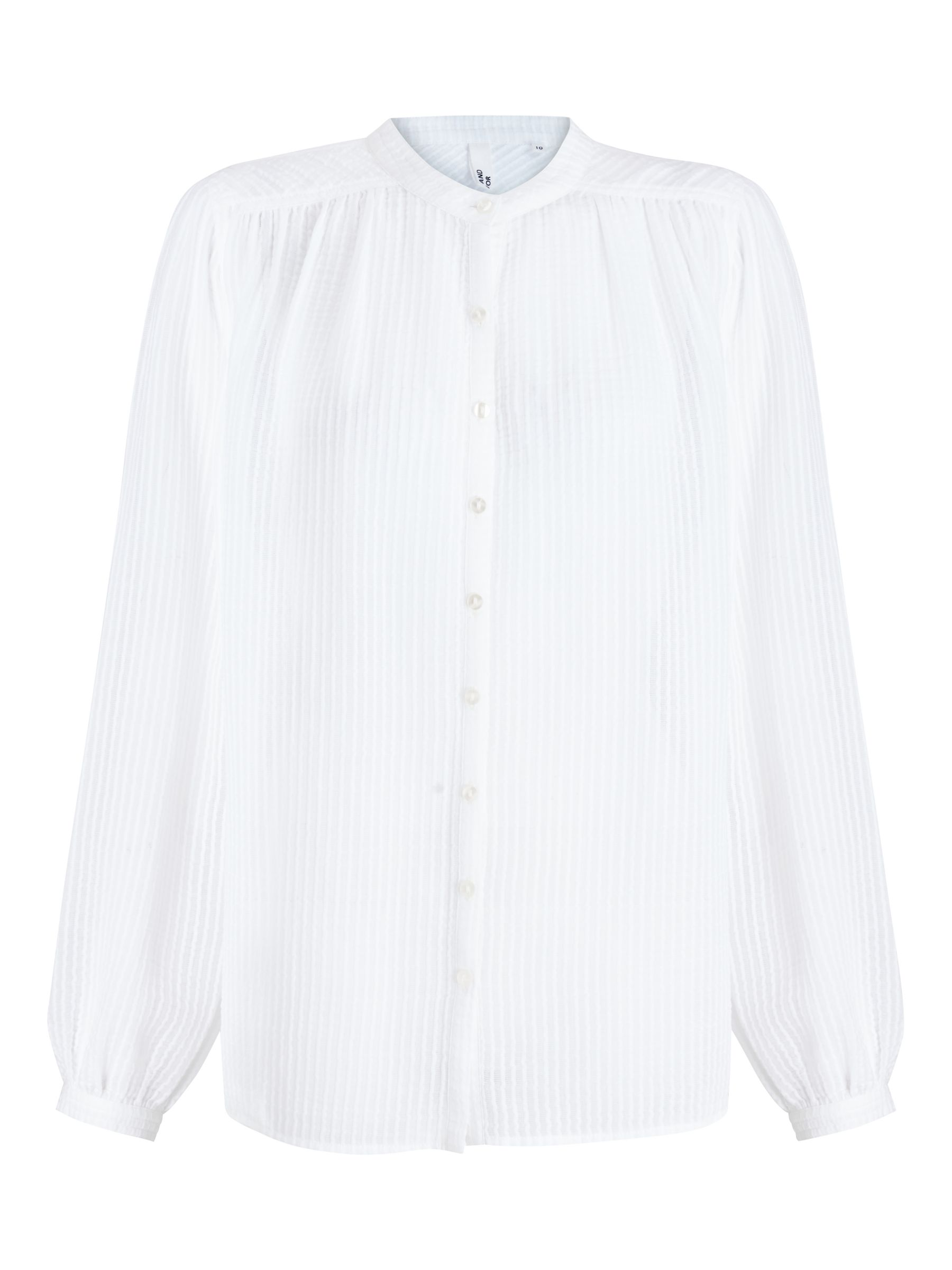 Buy AND/OR Marcello Textured Blouse, White, 8 Online at johnlewis.com