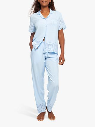 Cyberjammies Olivia Short Sleeve Pyjama Set, Blue